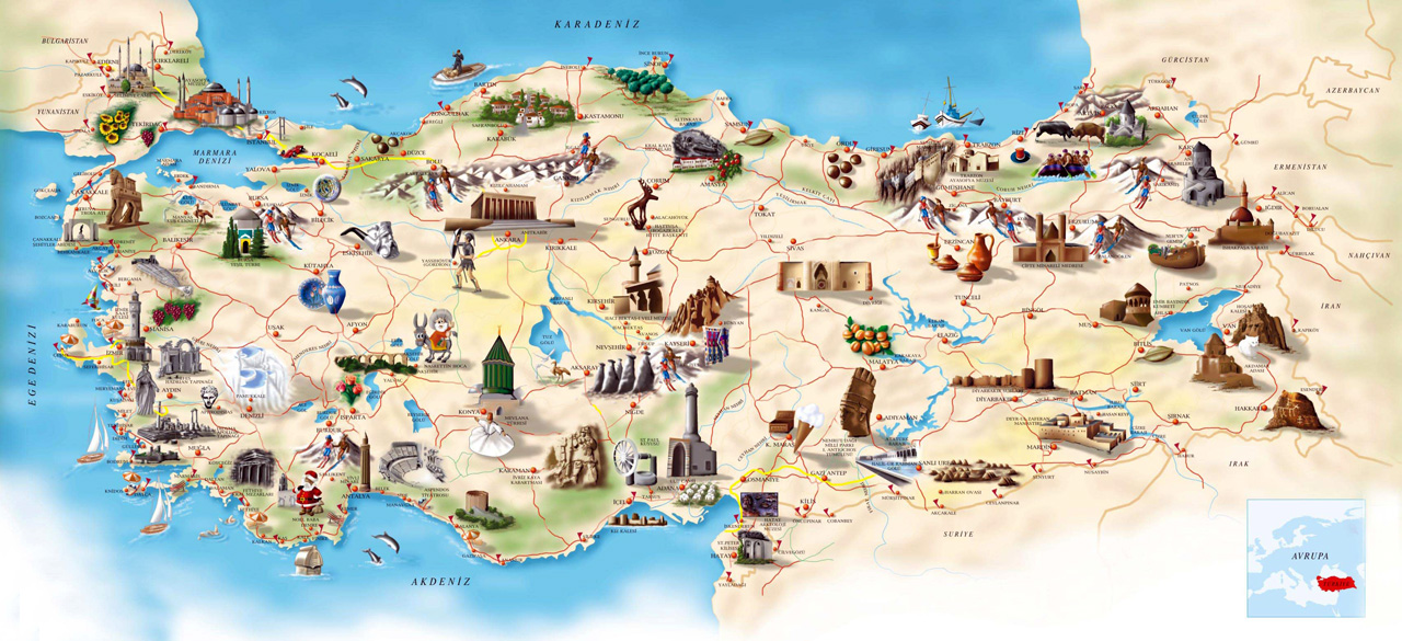 Turkey Cultural Map